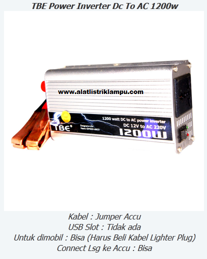 Inverter 1200 watt TBE