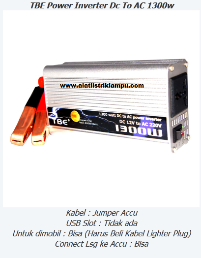 Inverter 1300 watt TBE