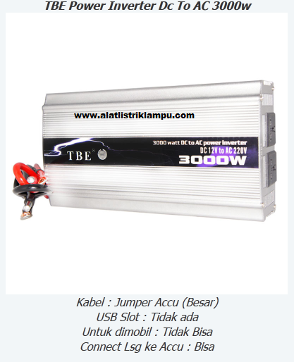 Inverter 3000 watt TBE